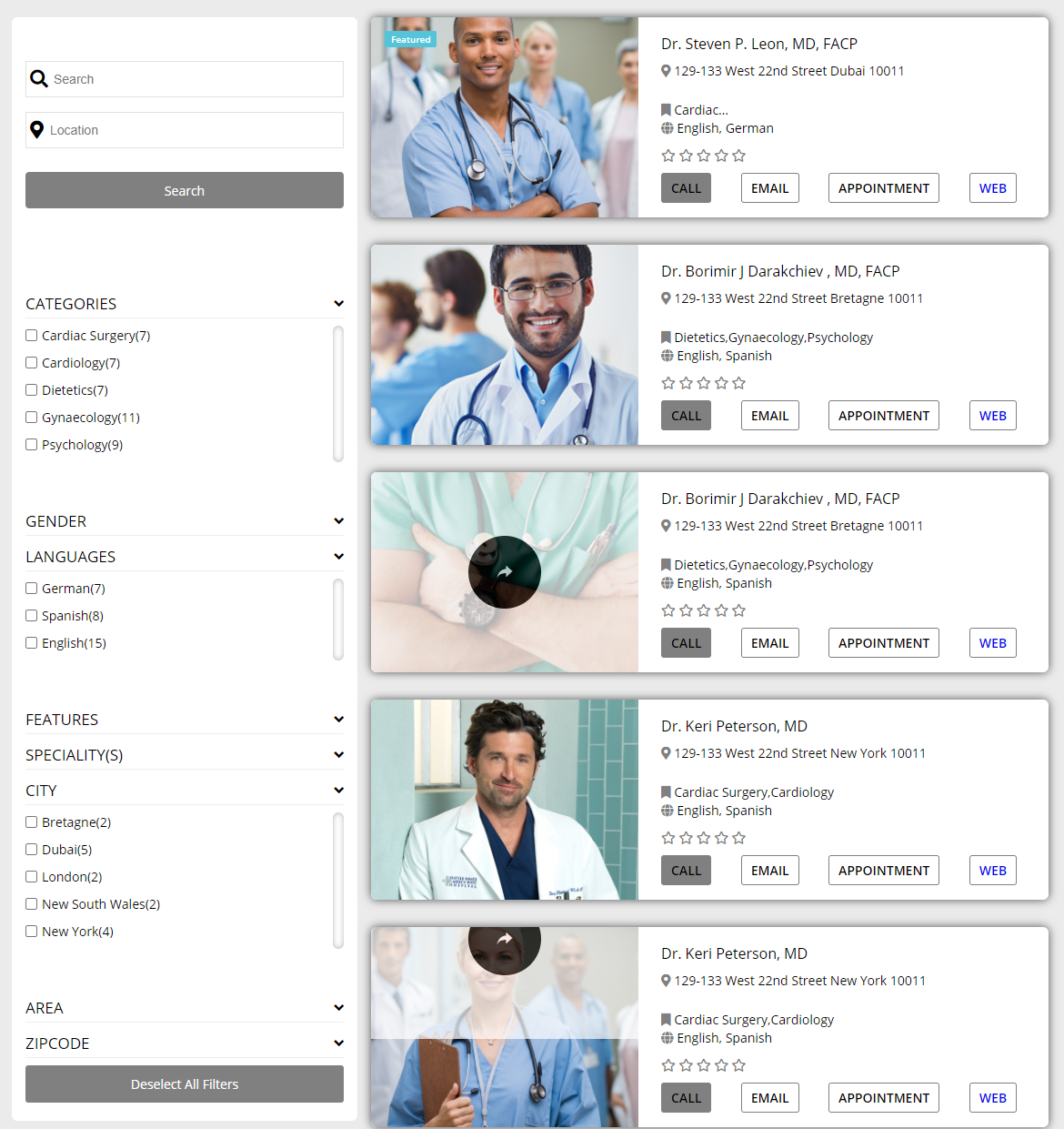 Hospital & Doctor Directory by e-plugins   CodeCanyon