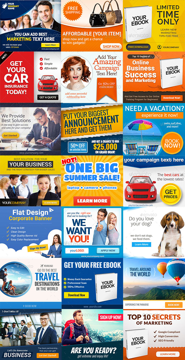 web banner templates bundle pack