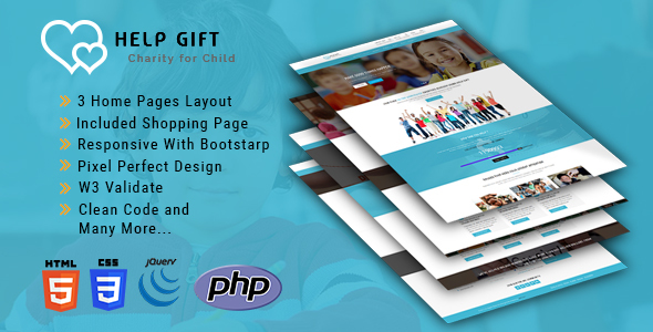 HelpGift - HTML5 Template - Charity Nonprofit