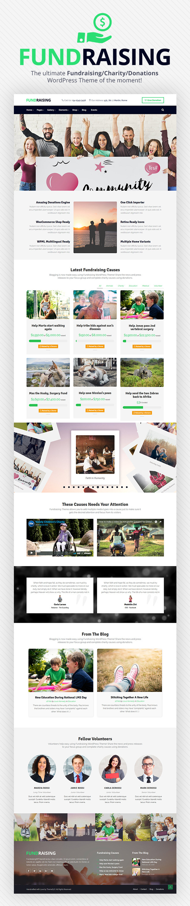 Fundraising - Charity/Donations WordPress Theme - 1