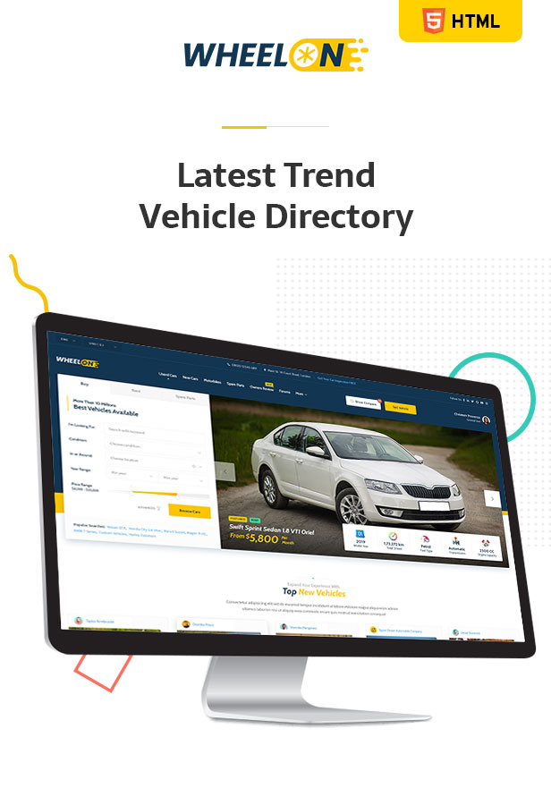 Wheelon -  Cars Dealership and Car Listing PSD Template - 3