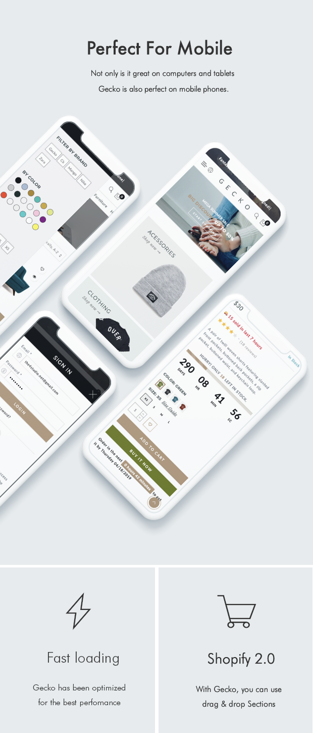 Gecko - Responsive Shopify Theme by The4 | ThemeForest