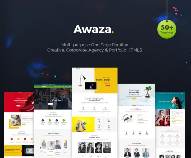 Awaza - One Page Multipurpose - 1