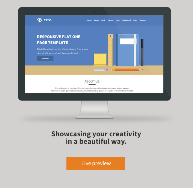 Crtv - Responsive Flat One Page Template - 2