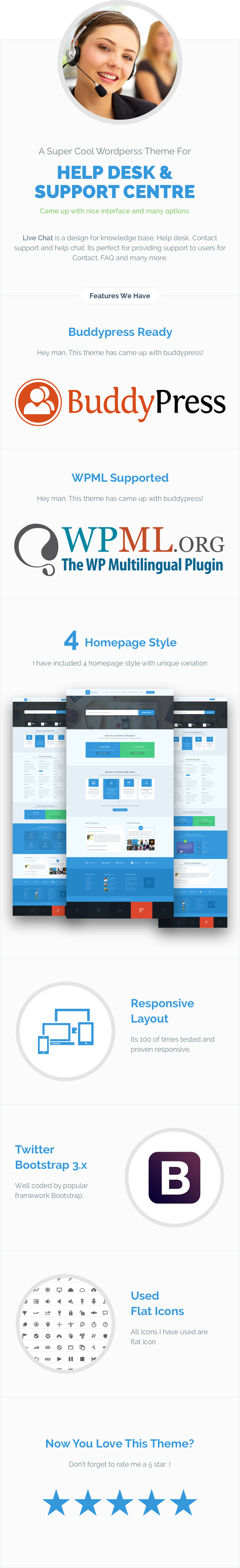 Live Chat - Helpdesk Responsive Wordpress Theme