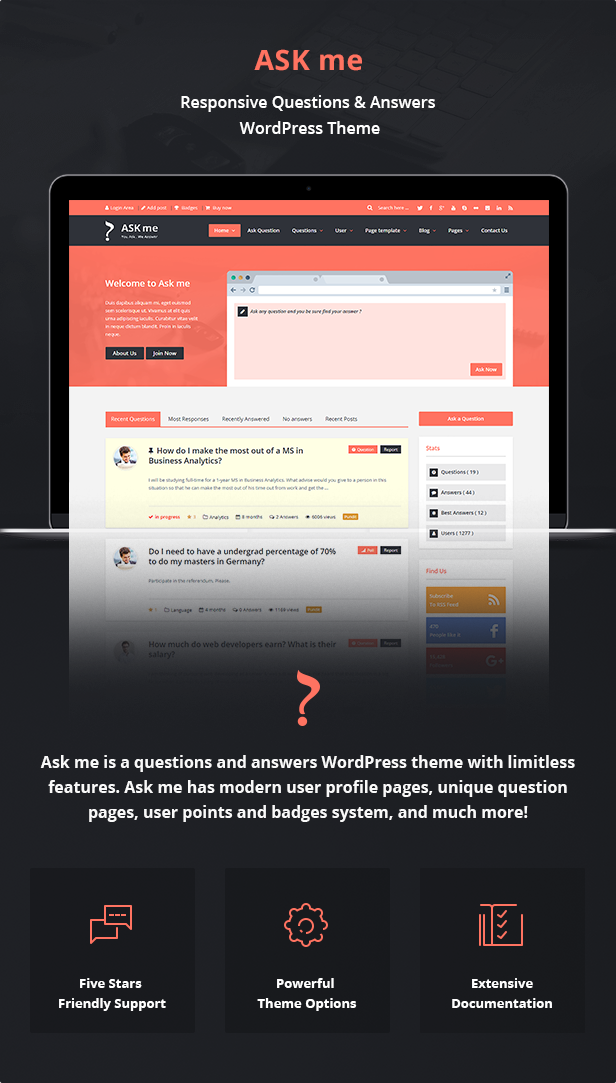 Ask Me - Responsive Questions & Answers WordPress by