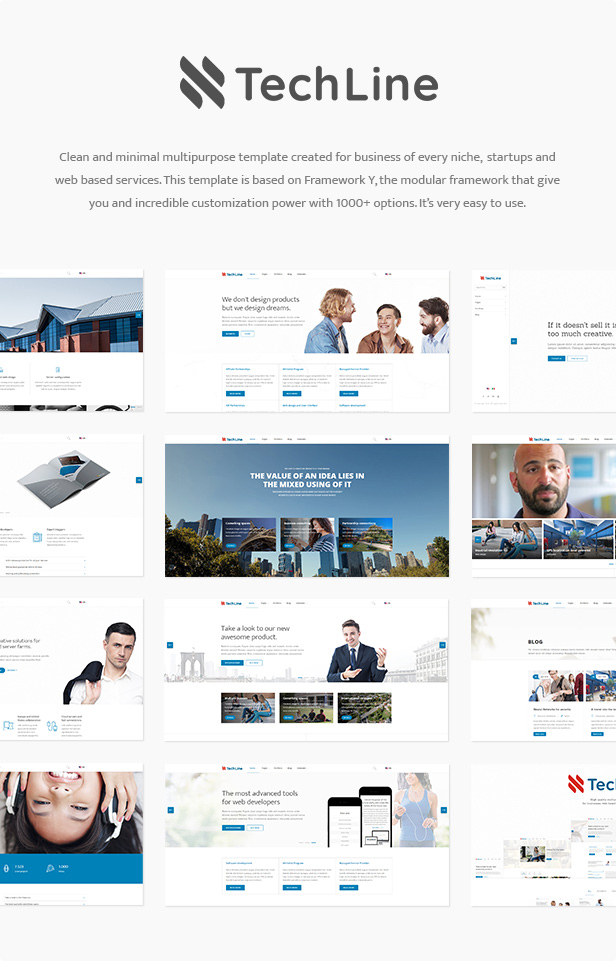 TechLine - Web services, businesses and startups modular template by ...
