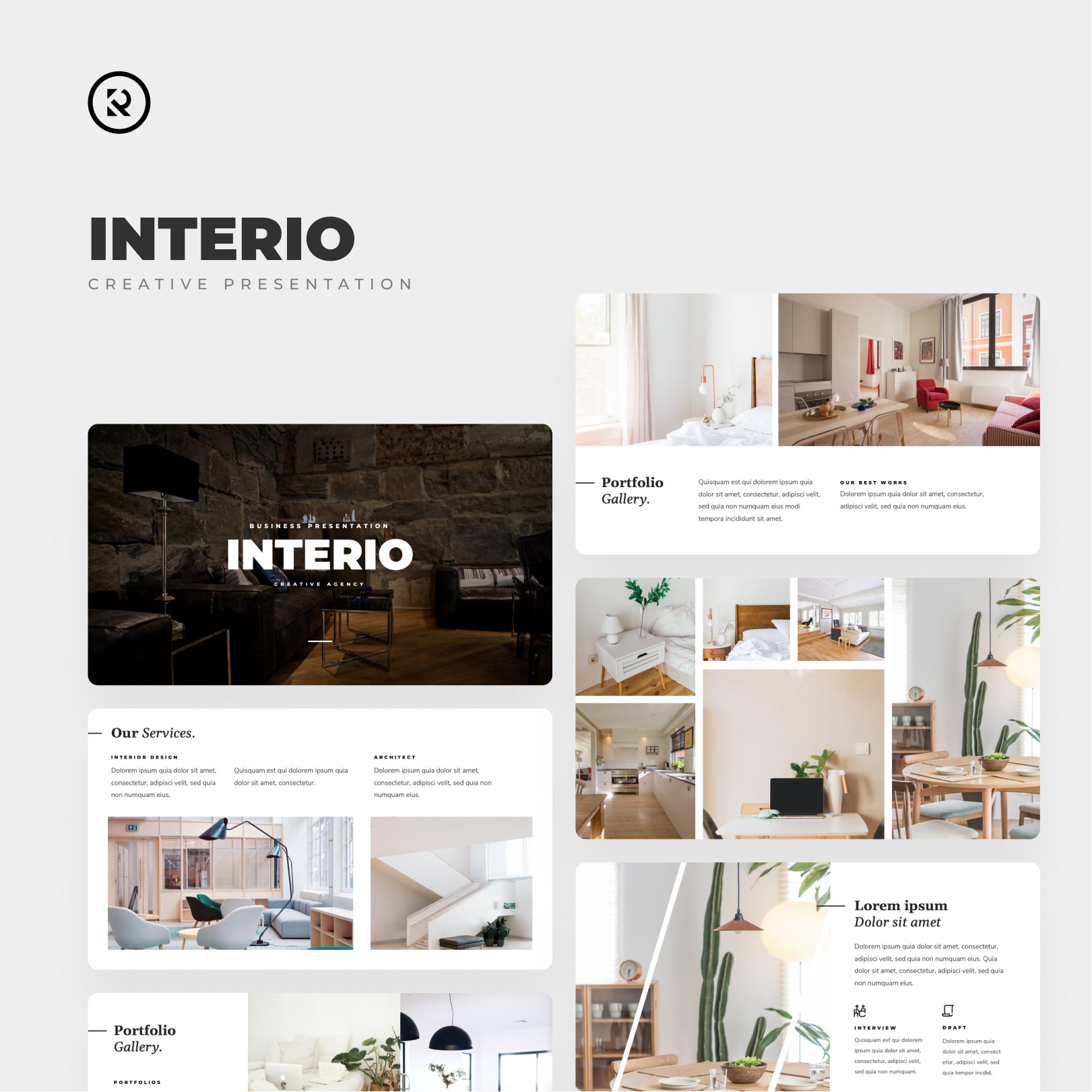 Interio Creative Interior Design Powerpoint Template By Mhudaaa Graphicriver