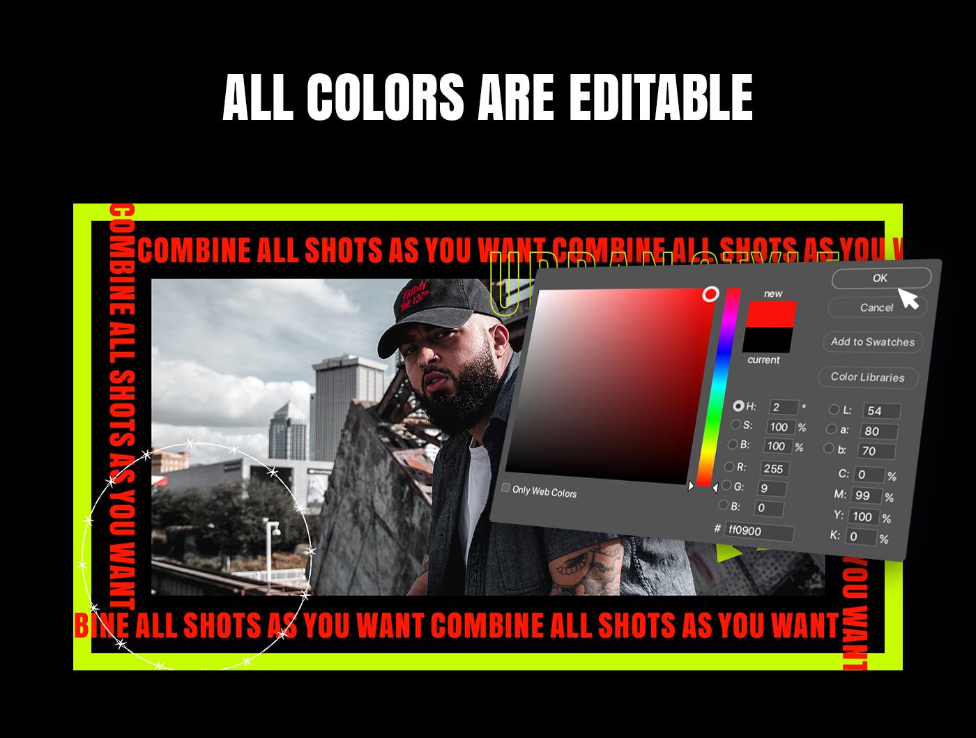 AE脚本-200多个创意文字标题排版时尚宣传视频包装动画工具包 Kinetic Social Pack for Win/Mac破解版插图7