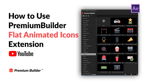 Flat Animated Icons Library - 11