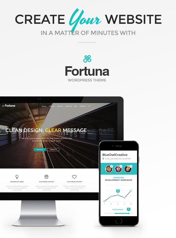 Fortuna - Responsive Multi-Purpose WordPress Theme by blueowlcreative