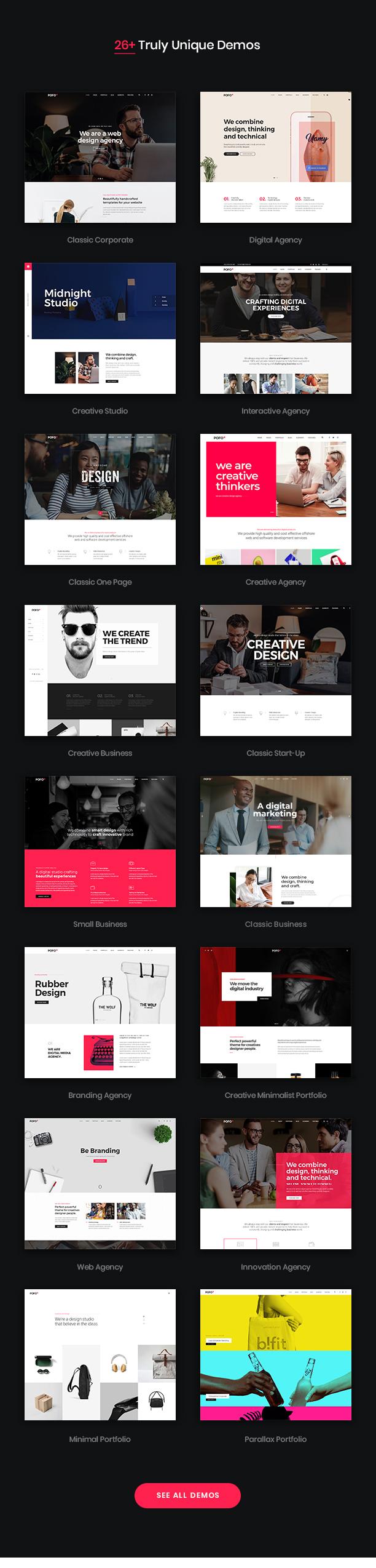 Pofo - Creative Agency, Corporate and Portfolio Multi-purpose Template - 8