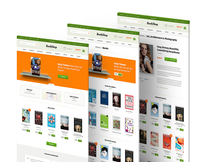 bookshop | psd templatehezytheme | themeforest, Powerpoint templates
