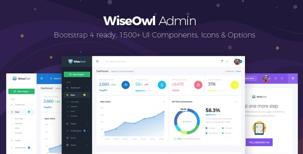 WiseOwl - Bootstrap 4 Admin Template
