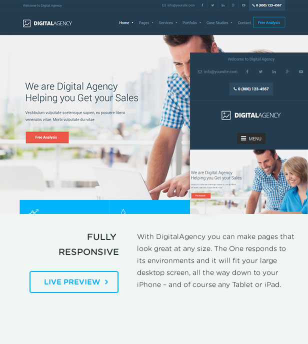 Digital Agency - SEO / Marketing WordPress Theme - 3