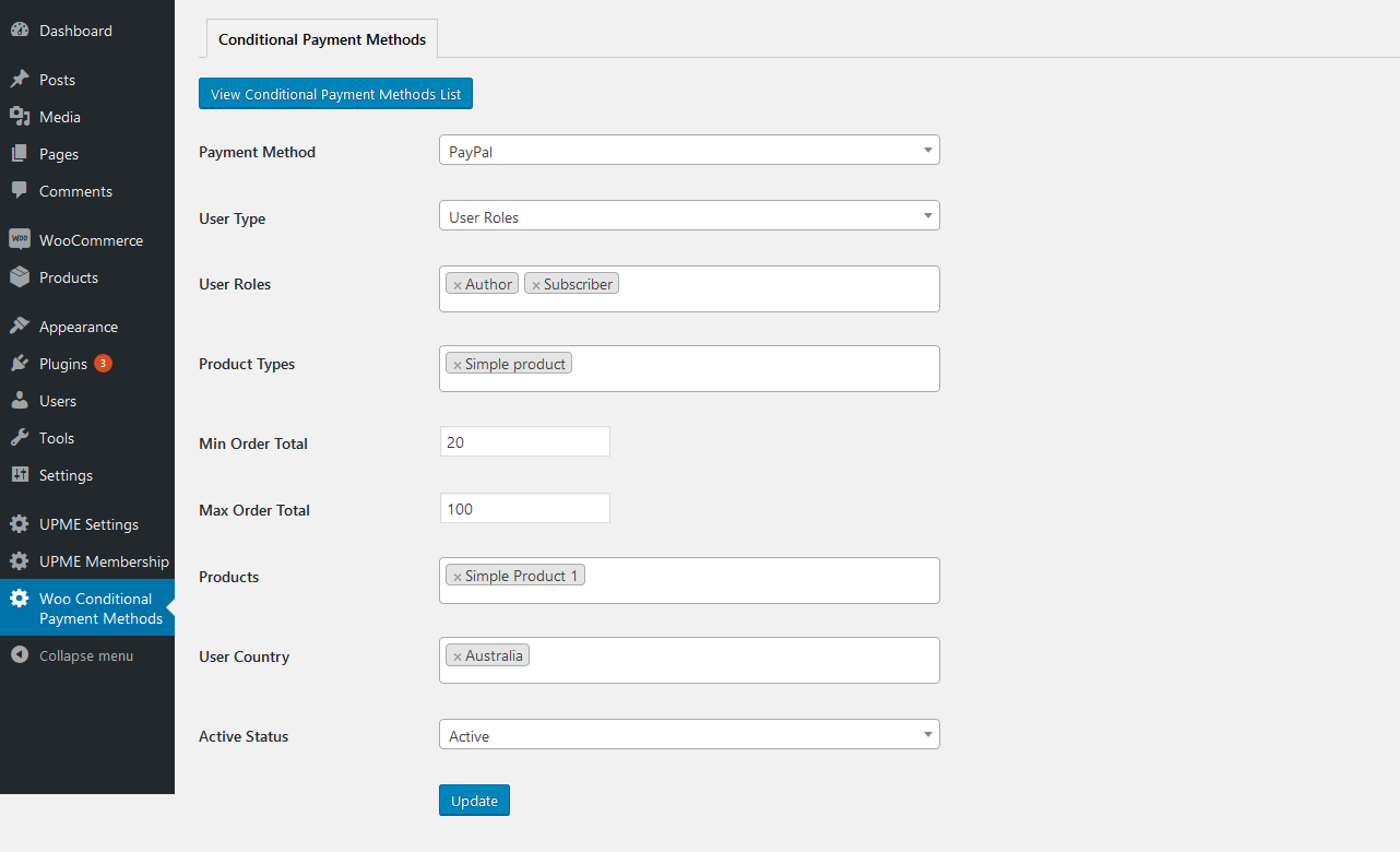 Conditional Payment Methods PRO for WooCommerce - 36