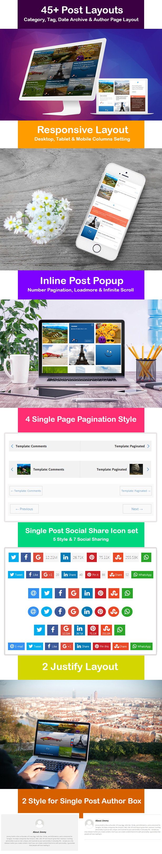 Blog Page Layout Manager for WordPress