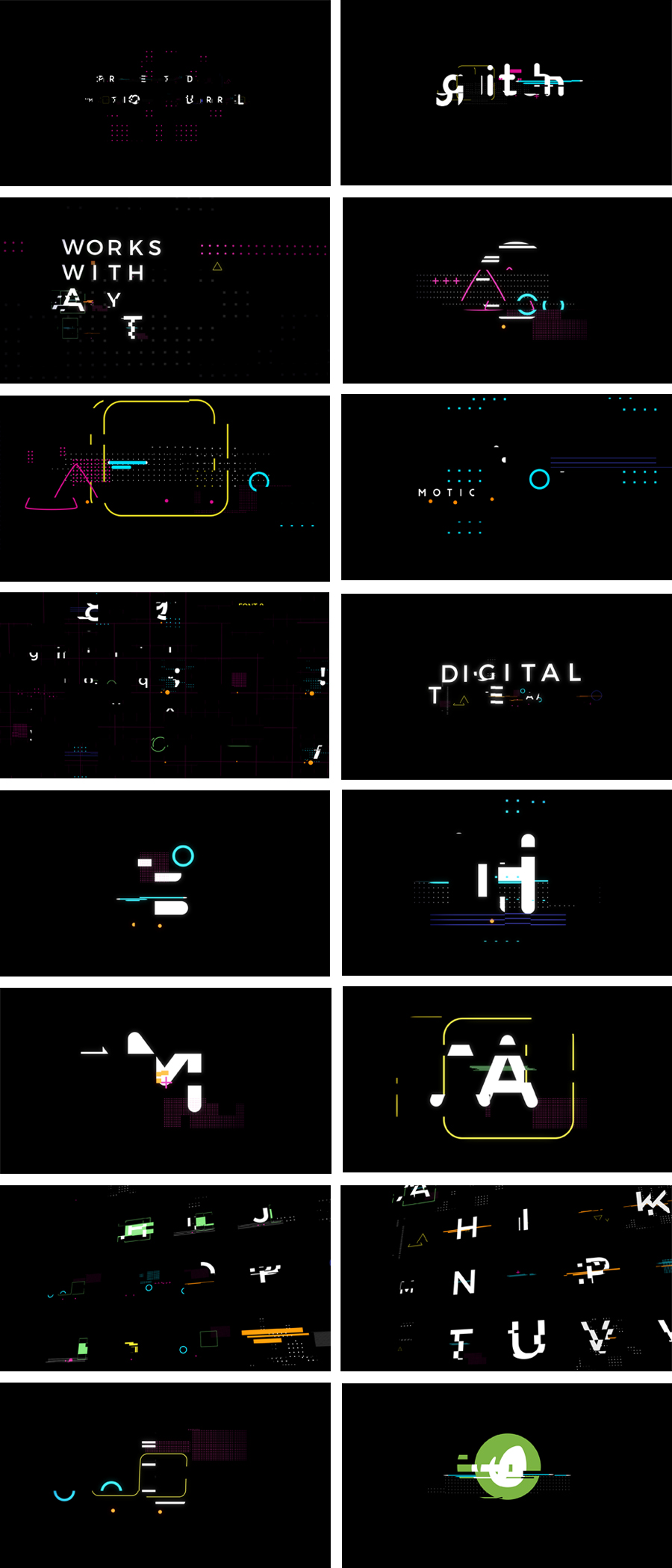 glitch typeface preview