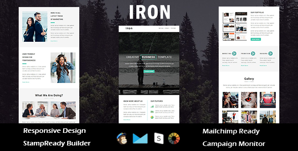 Cool - Multipurpose Responsive Email Template with Stampready Builder Access - 4