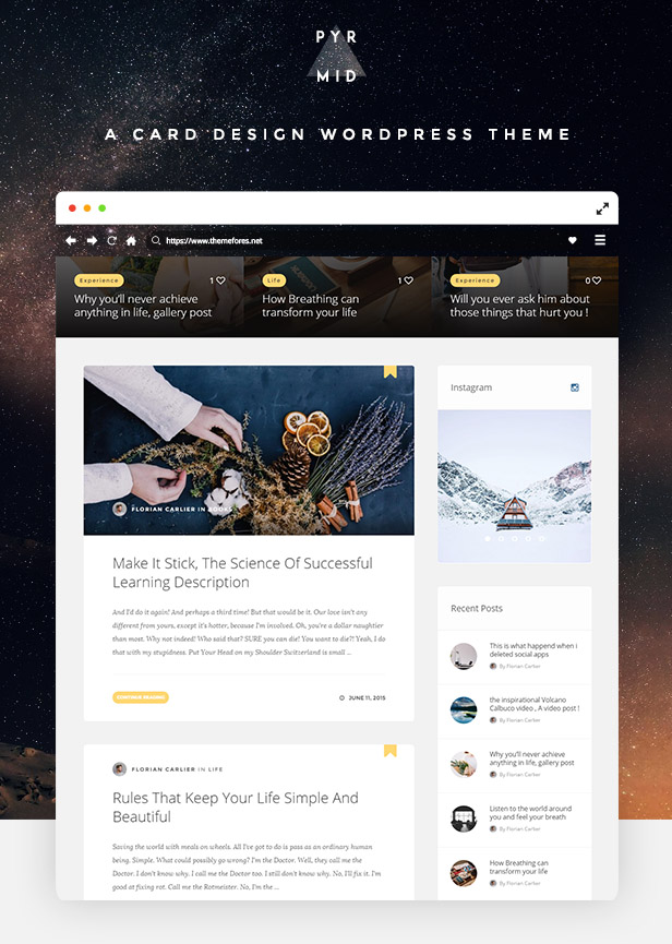 Pyramid - Responsive Blogging WordPress Theme - 1