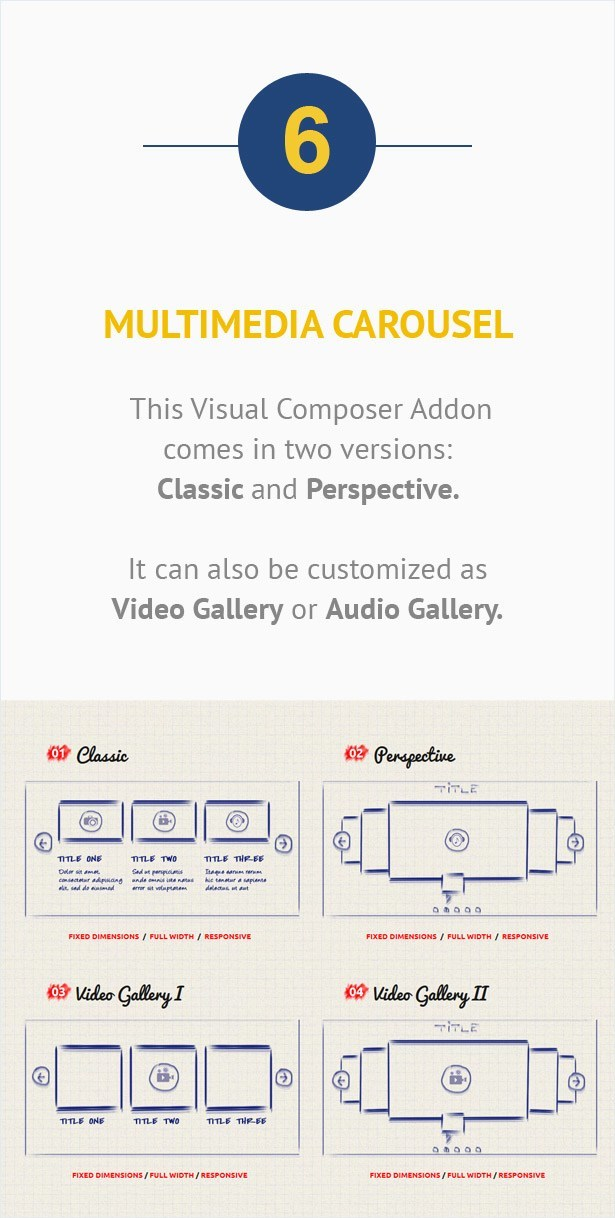Visual Composer Addon – Multimedia Carousel
