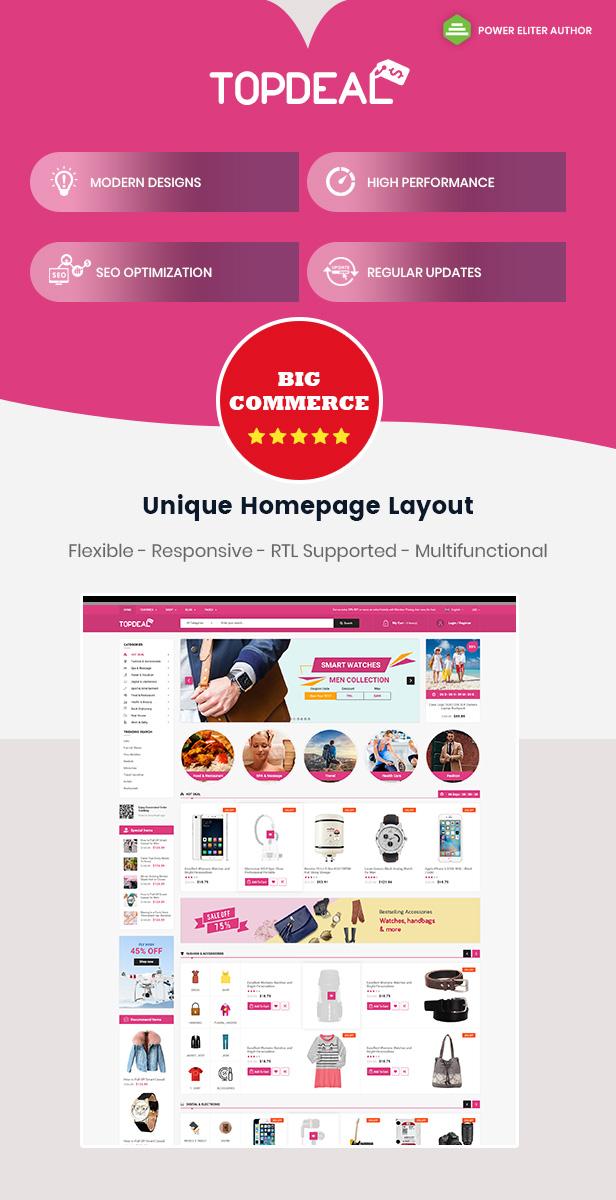 Topdeal - Multipurpose Stencil Responsive BigCommerce Theme