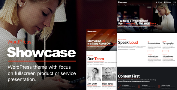 Showcase - Fullscreen slideshow multipurpose theme - Creative WordPress