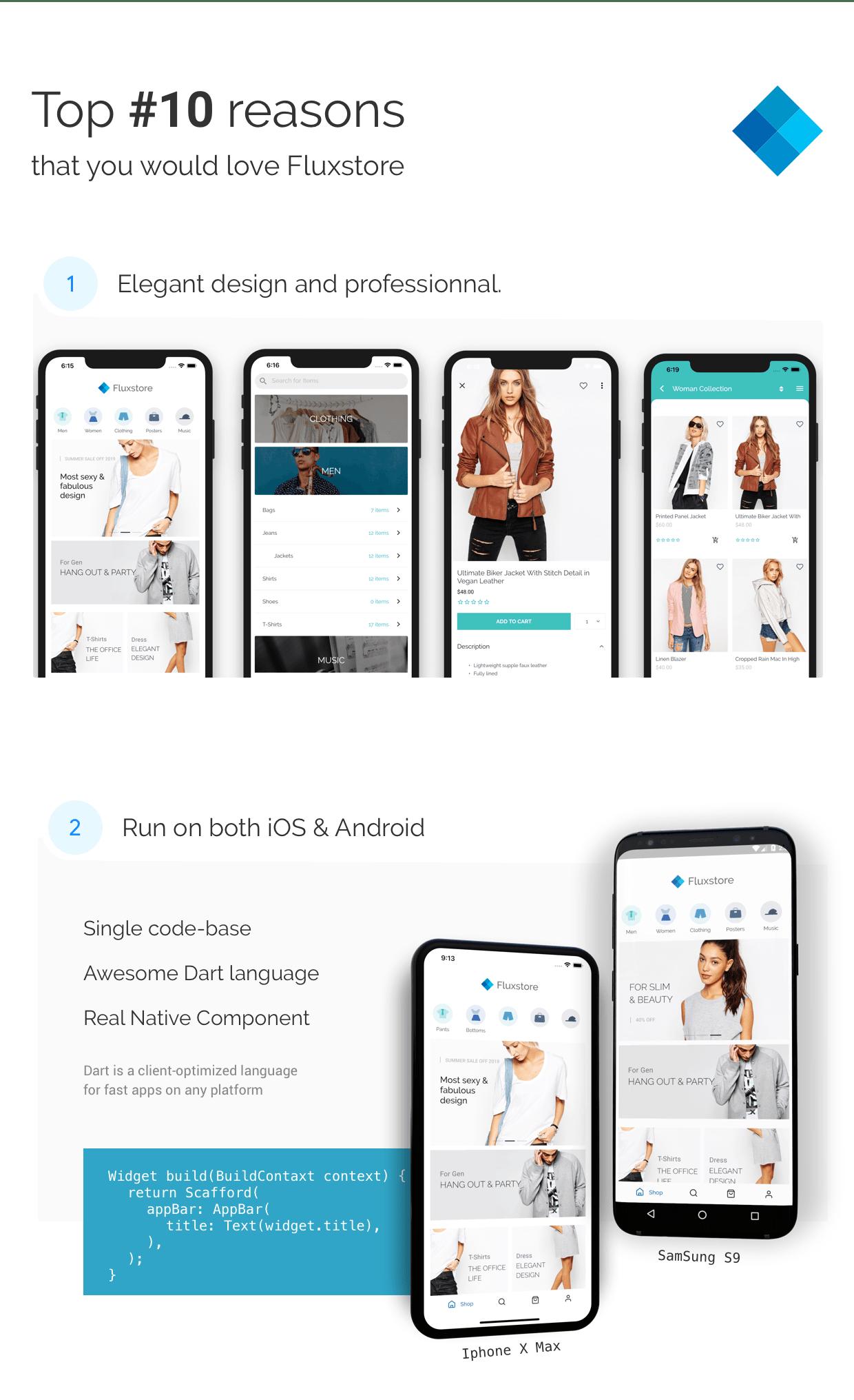 Fluxstore Pro - Flutter E-commerce Full App for Magento, Opencart, and Woocommerce - 4